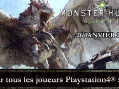 La Bêta de MONSTER HUNTER: WORLD disponible pour tous les joueurs Playstation 4 ce week-end